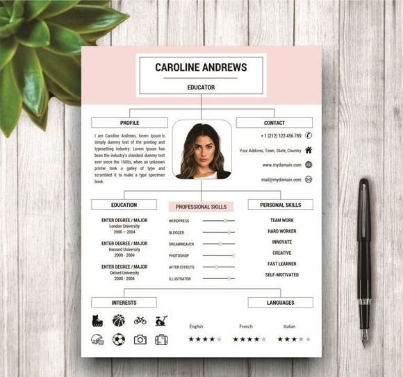 Resume Template + Cover Letter by wordresume on @creativemarket