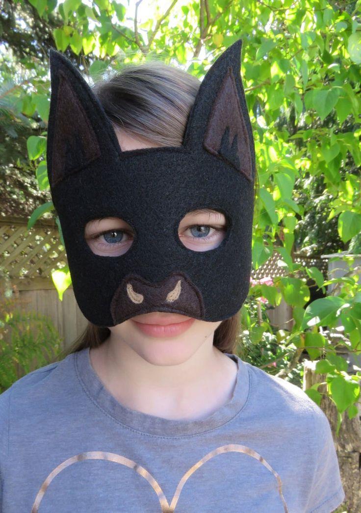 Black Bat Mask Halloween Mask Bat Costume Accessory