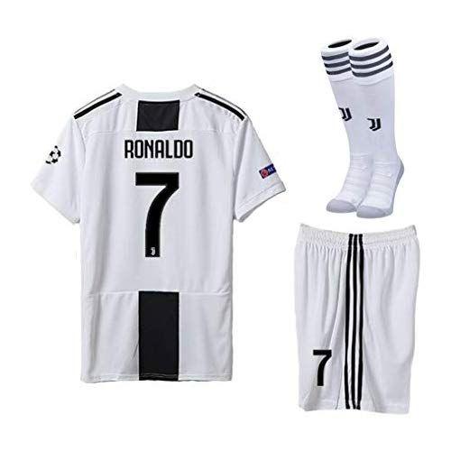 8860ce90af7 Kaner Mongkok Juventus 18/19 Season Youths/Kids Ronaldo #7 Home Soccer  Jersey & Shorts & Socks
