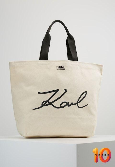 01320bfd190ec KARL LAGERFELD SHOPPER - Shopping bags - natural - Zalando.dk