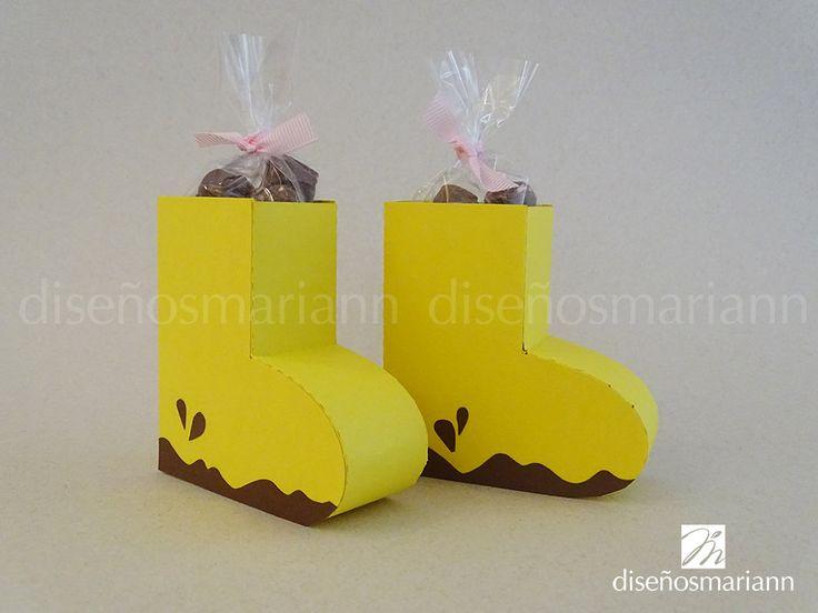 Peppa Pig rain boots candy box