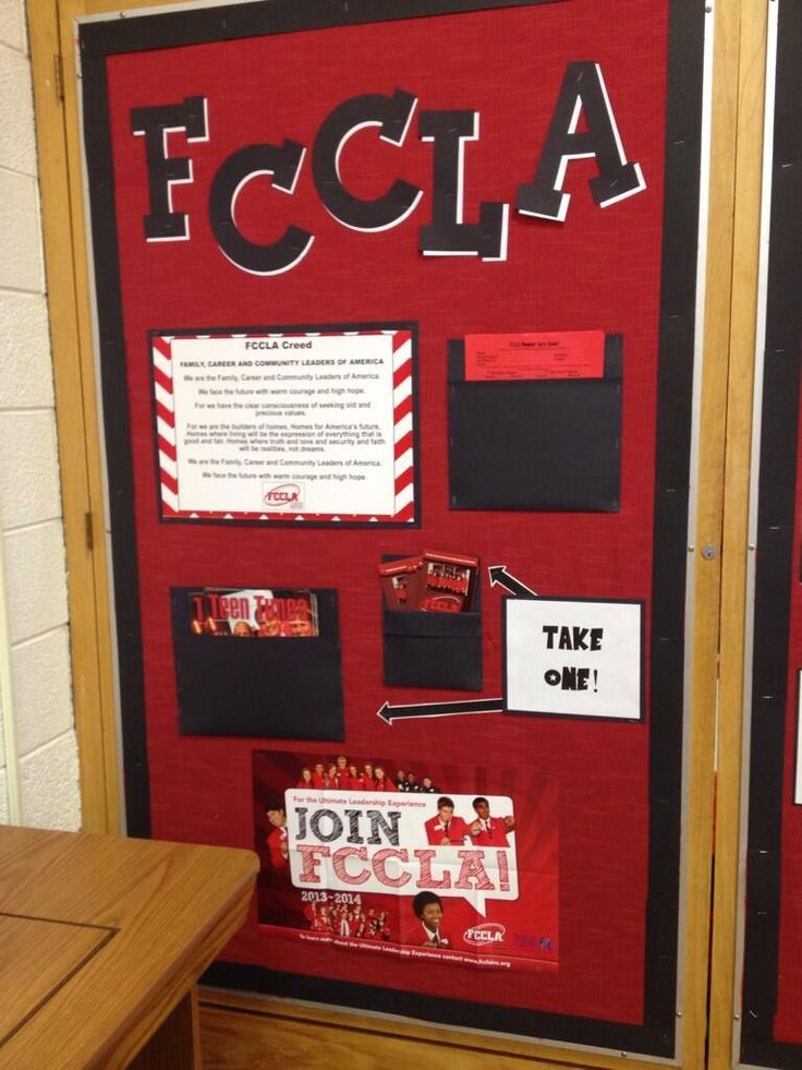 How cool is this FCCLA bulletin board? Join FCCLA!