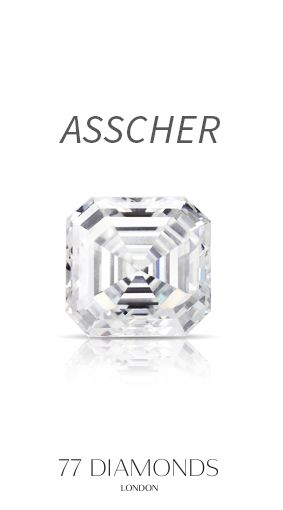 The #Asscher cut #Diamond from #77diamonds. Find out more on our #Education page