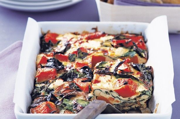 Make this tasty slice for dinner and pack the leftovers in tomorrow's lunchbox. Well, if there are any leftovers!