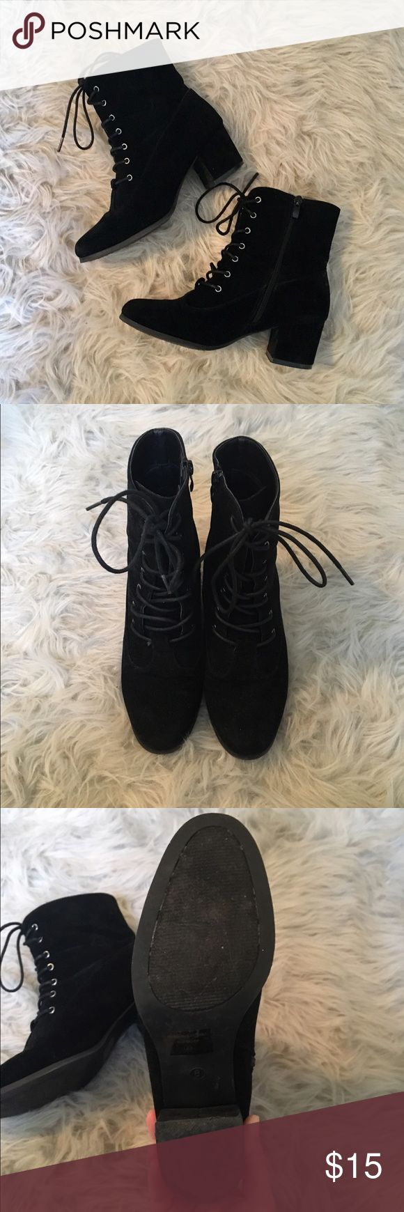 Lace up combat boots Excellent condition Charlotte Roos lace up combat boots! Only worn two or three times. Charlotte Russe Shoes Lace Up Boots