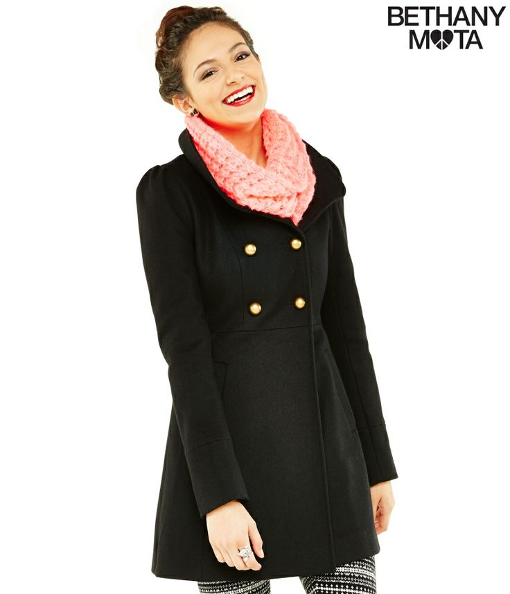 Wool Coat from Bethany Mota Collection at Aeropostale
