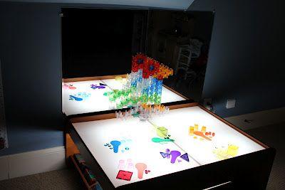 Play At Home Mom LLC: DIY Light Table: Lights, At Home, Mom Llc, Train Table, Plays, Light Table, Diy Light, Kid