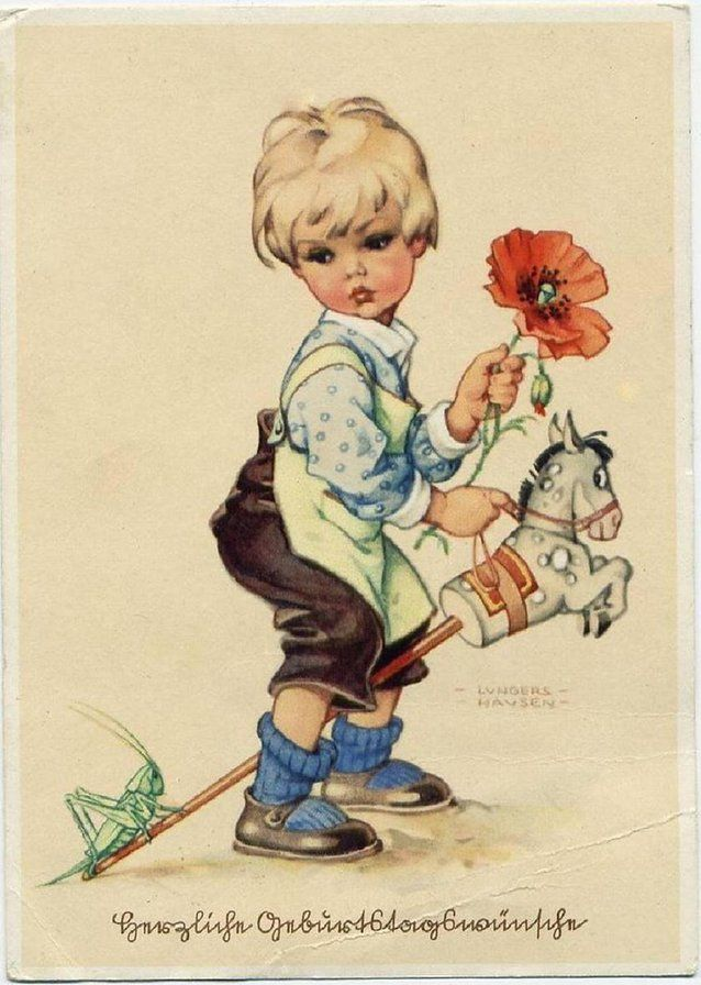 Старые открытки и игрушки