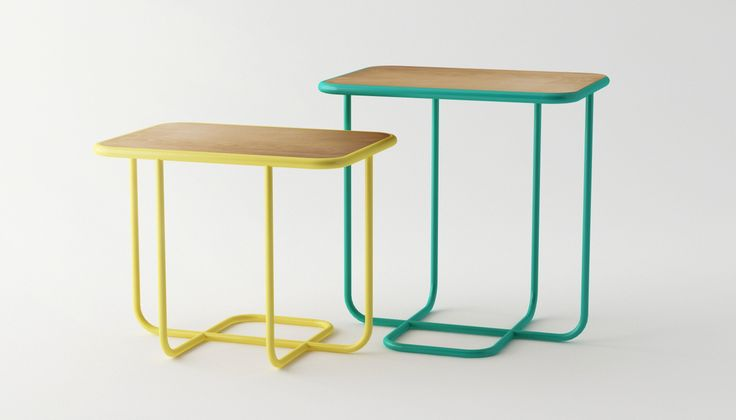 Line side table by Silvia Cenal