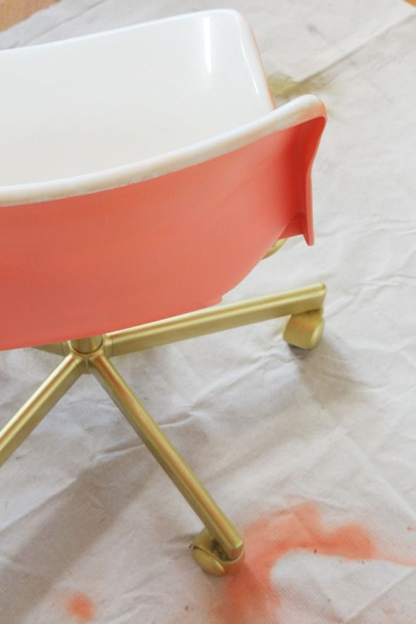 jenny komenda spray painted ikea chair. Love it.
