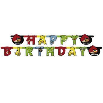 Ver detalles de Banner Happy Birthday Angry Birds