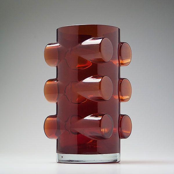 Erkkitapio Siiroinen; Glass 'Pablo' Vase for Riihimäen Lasi, 1971.