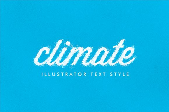 I just released Climate - Illustrator Text Style on Creative Market.