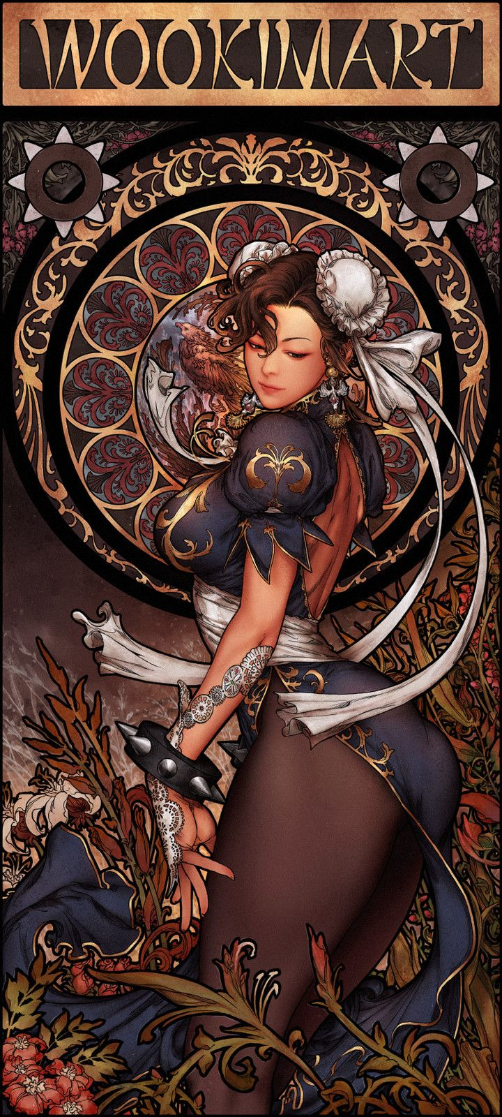 Art Nouveau Chun-Li, Woo Kim on ArtStation at https://www.artstation.com/artwork/K42KB