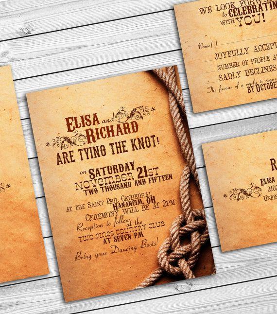 Rustic Country Wedding Invitations   Barn Wedding Western Country Wedding