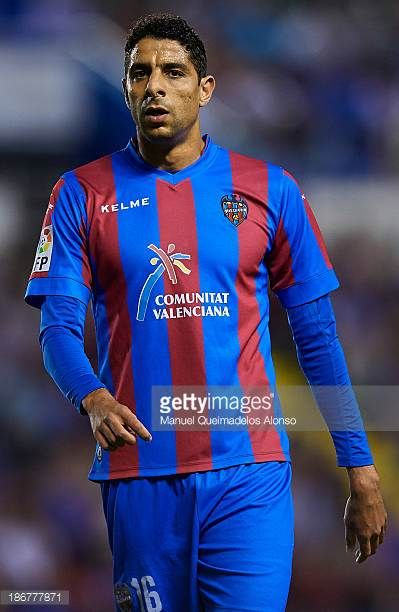 Issam El Adoua of Levante looks on during the La Liga match between Levante UD and Granada CF at Ciutat de Valencia Stadium on November 03 2013 in...