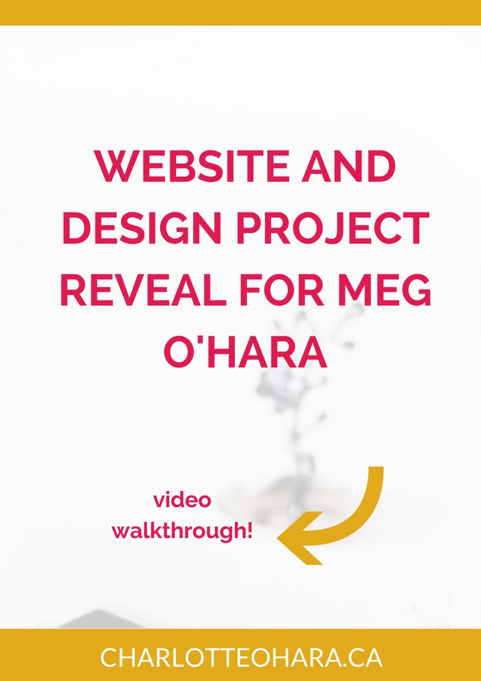 Website and design project reveal for Meg O'Hara | Take a look at the strategy and project breakdown as we redesigned landscape artist Meg O'Hara's website! Video walkthrough to see how we designed the new website on Squarespace. Click through to read now and watch the video or pin and save for later!