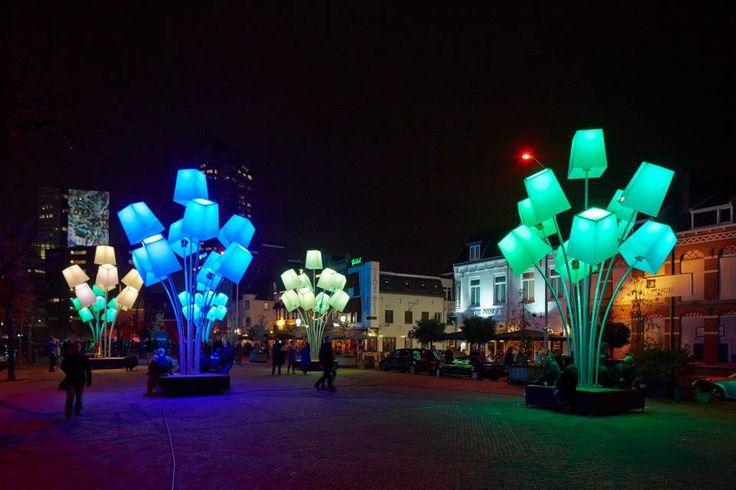 Straatverlichting lampenkappen