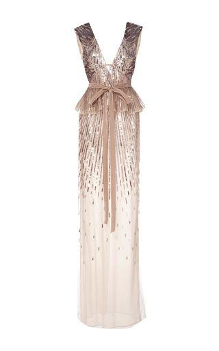 Monique Lhuillier Embellished Gown