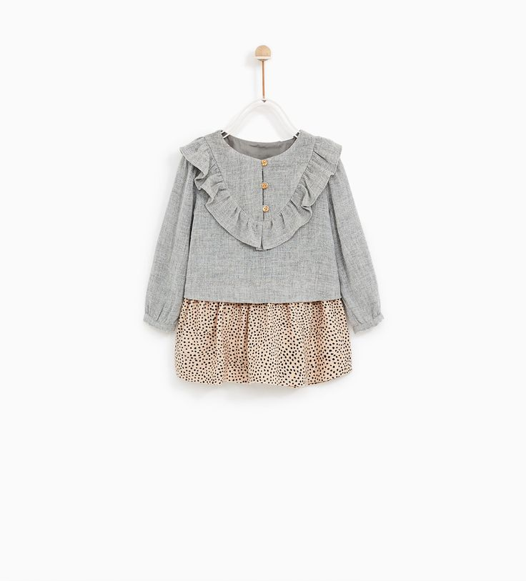 ZARA - KIDS - CONTRAST FRILLED DRESS