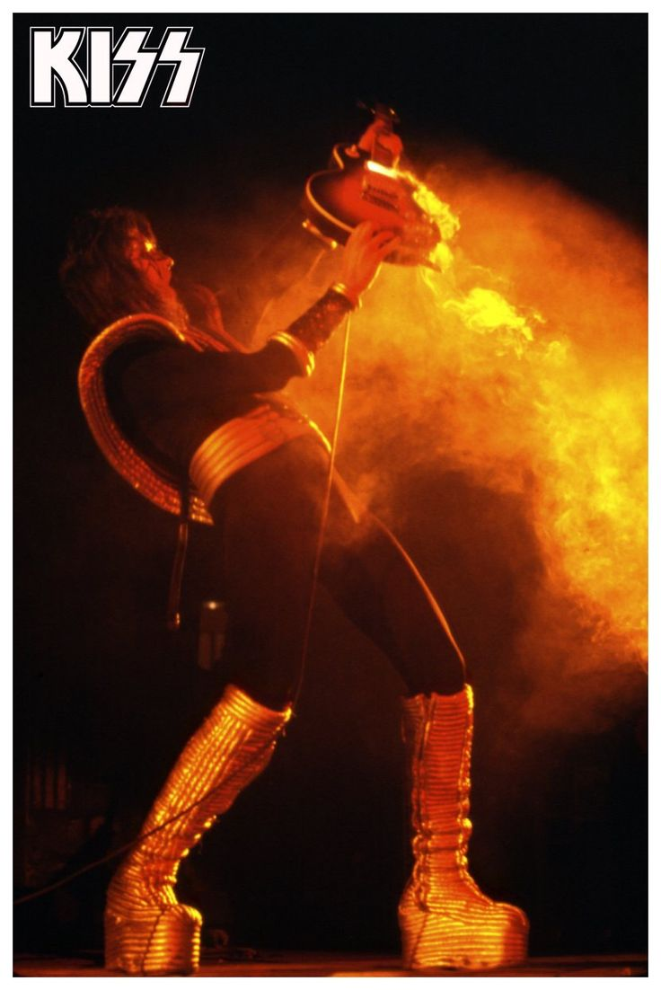 KISS Ace Frehley Destroyer Era 24 x 36 Inch Poster - Kiss Band Kiss Collectibles Kiss Memorabilia Retro Gift Idea kiss76 - MINT CONDITION