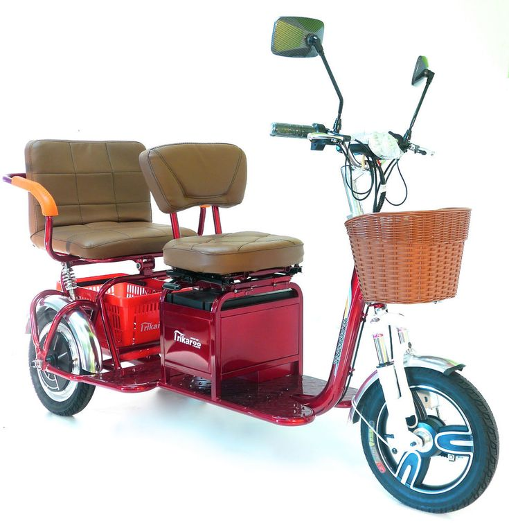 New Trikaroo 2 person Electric Mobility Scooter Pedicab E-bike Two Seat Tricycle #Trikaroo
