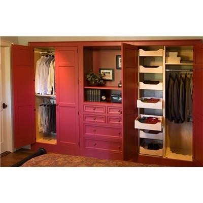 Custom Built In Closet Red   Traditional   Closet   Boston   Crown Point  Cabinetry