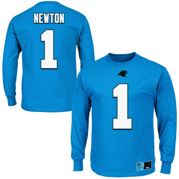 Cam Newton Carolina Panthers Eligible Receiver II Name and Number Long Sleeve T-Shirt - Blue - $34.99