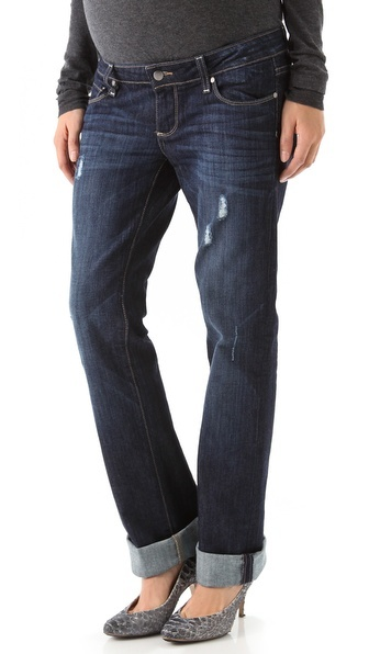 selected by http://jamesdrygoods.com for the made in america: contemporary project   #madeinusa   Paige Denim Jimmy Jimmy Maternity Boyfriend Jeans