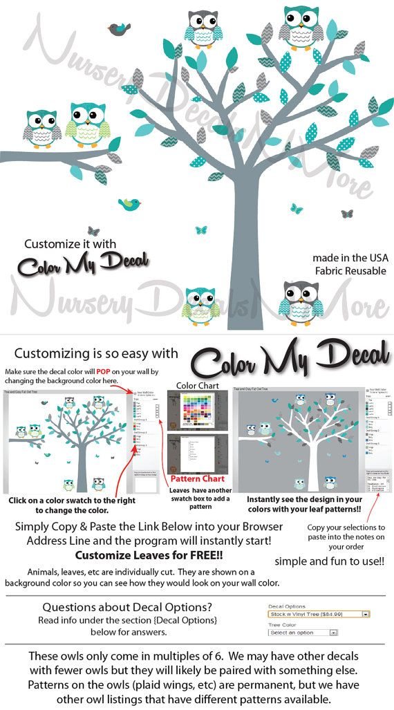 Nursery Wall Decals with Tree and Owls Kids par NurseryDecalsNMore2