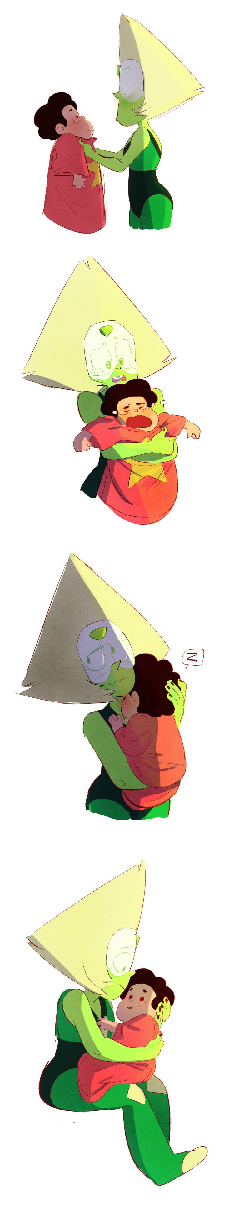Taking Care of Baby Steven, Steven Universe, Peridot