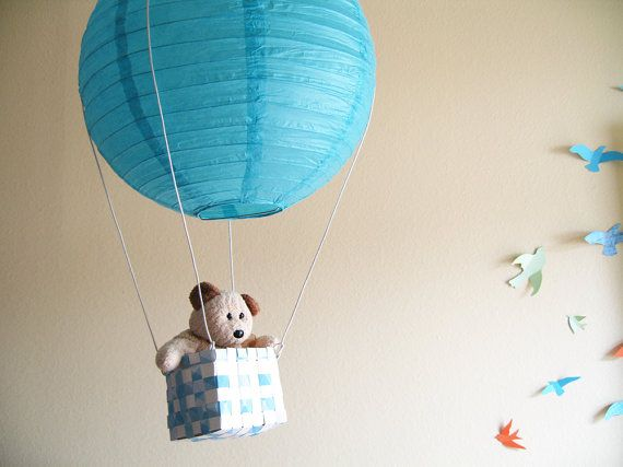Way too cute to not be in my baby's room one day. :)     Find the DIY at Etsy.com for $18. Shop name: SimplyChicLily! http://www.etsy.com/listing/89750218/diy-kit1-hot-air-balloon-mobile-hot-air