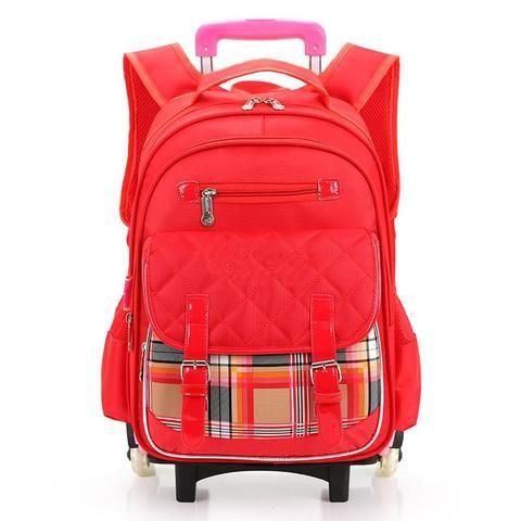 Waterproof Women Backpacks Boys Children School Bags With Wheel Girls Trolley Backpacks for Middle School Shoulder Bags Bolsos