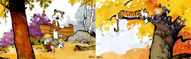 Calvin and Hobbes - Dual Screen Wallpapers. #Followme #CooliPhone6Case on #Twitter #Facebook #Google #Instagram #LinkedIn #Blogger #Tumblr #Youtube