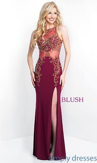 Shop long formal dresses for prom and weddings at Simply Dresses. Open back  gowns and sleeveless evening dresses with beading and embroidery. a7906c69c89d