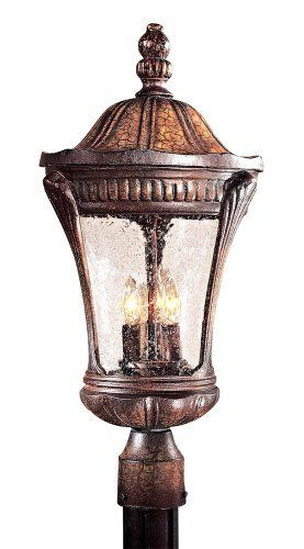 "Kent Place Collection 22 1/4"" High Post Mount Lantern by Minka Lavery. $199.91. Give your entry a classically inviting appeal with this handcrafted, perfectly proportioned outdoor lighting post mount design from Minka. Post not included. Post mount adapter sold separately."