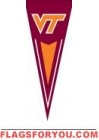 "Virgina Tech Hokies Yard Pennant 34"" x 14"""