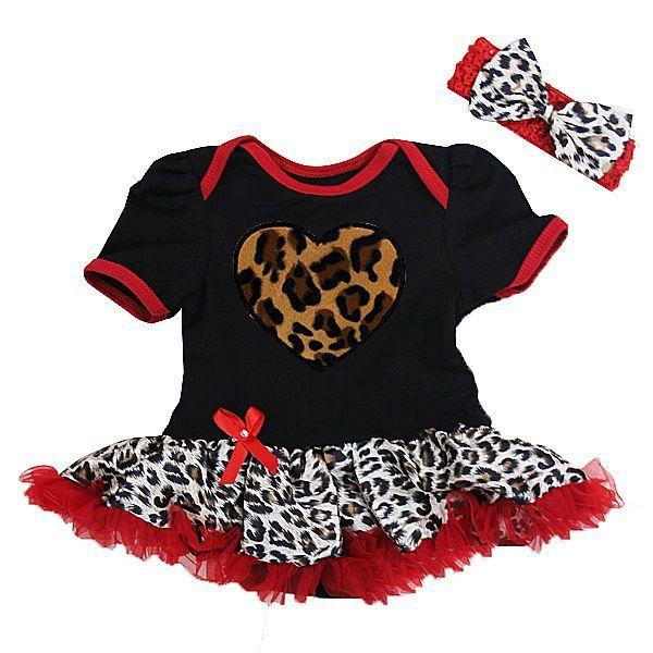 2 Piece Black and Red Leopard Print Heart Baby Onesie Tutu http://pinkyoustink.com/item_32/2-Piece-Black-and-Red-Leopard-Print-Heart-Baby-Onesie-Tutu.htm