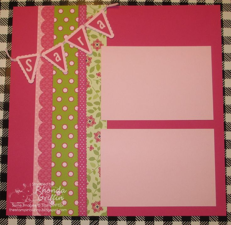 girls birthday scrapbook page layout | Girl Birthday Scrapbook pages