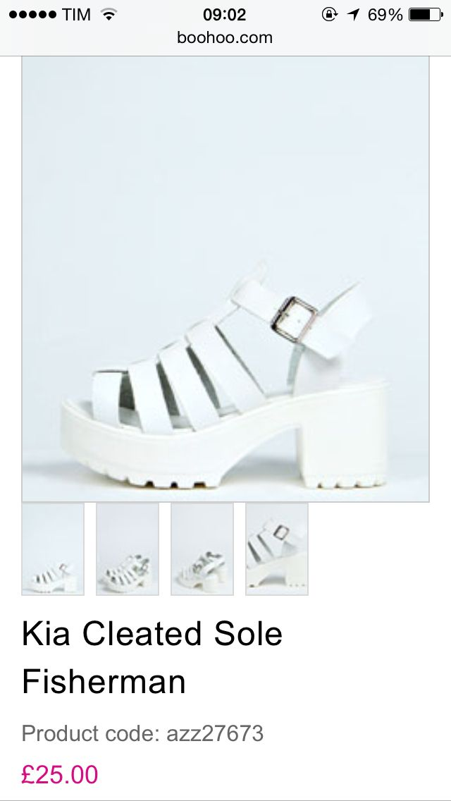 1e6055898b7 Chunky white cleated sole sandals from boohoo.com