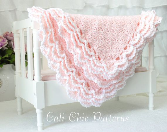 Crochet Baby Blanket PATTERN 100  Iris Crochet by CaliChicPatterns