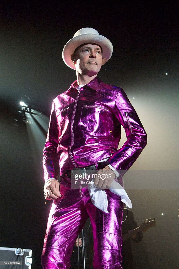 Singer Gord Downie of The Tragically Hip performs at their last Canadian tour 'Man Machine Poem' at Save On Foods Memorial Centre on July 22, 2016 in Victoria, Canada.