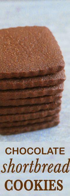 shortbread cookies | Easy shortbread cookies | chocolate shortbread cookies |