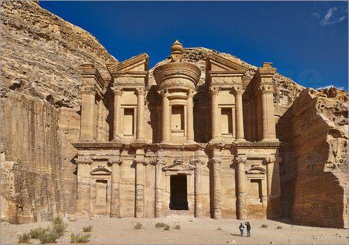 Poster Kloster Ad oder El Deir, Nabataeische Ruinenstadt Petra, Jordanien