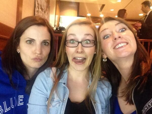 Because they are just too awesome! Lisa, Ali and Emma at the jays game