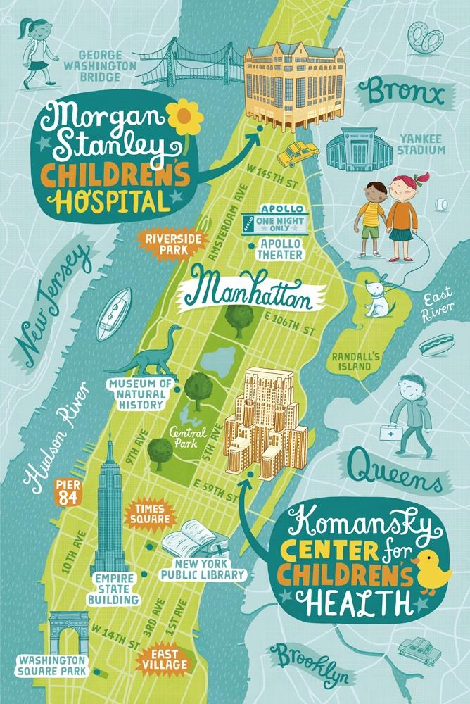 New York Presbyterian Hospital Map By Linzie Hunter