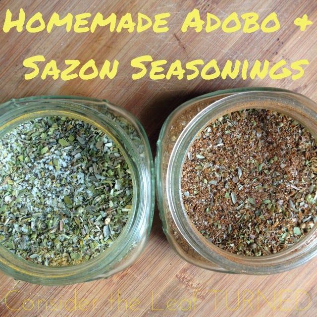 In Puerto Rican cooking, we tend to use Goya Adobo and Goya Sazon to season rice, stews, meats,  everything. I've been trying to use less...