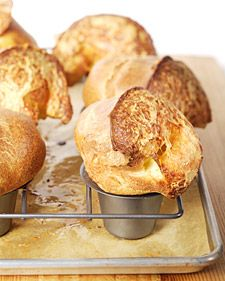 "This recipe for giant cheese popovers is from chef Laurent Tourondel's cookbook, ""Bistro Laurent Tourondel: New American Bistro Cooking."""