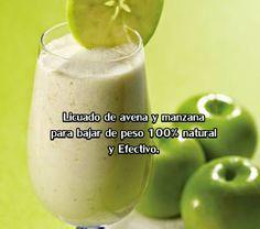 EL BREVE ESPACIO: Licuado de avena y manzana para bajar de peso