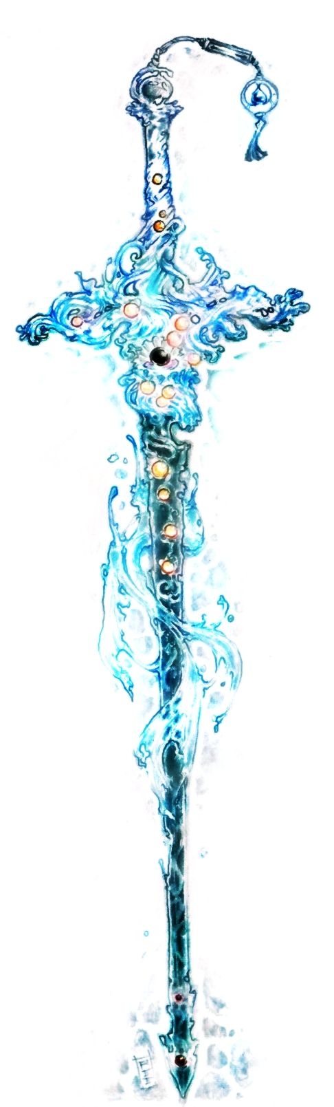 Blackened Oceanic Blade by Amdhuscias.deviantart.com on @DeviantArt